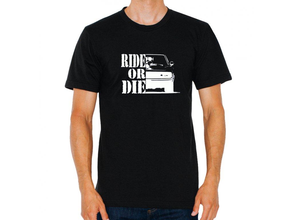pánské černé tričko Rychle a zběsile ride or die