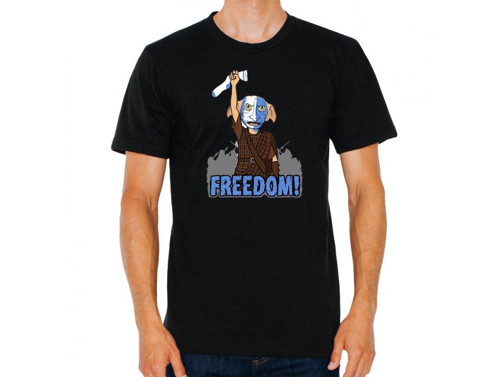 pánské černé tričko harry potter dobby svoboda