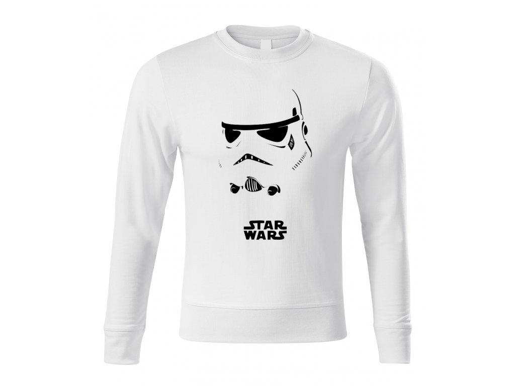 mikina bez kapuce Star Wars Stormtrooper Maska