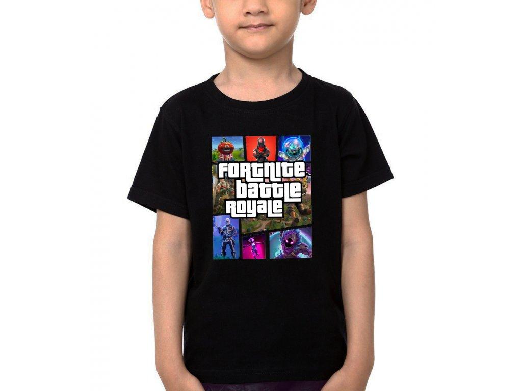 Dětské tričko Battle Royale Fortnite