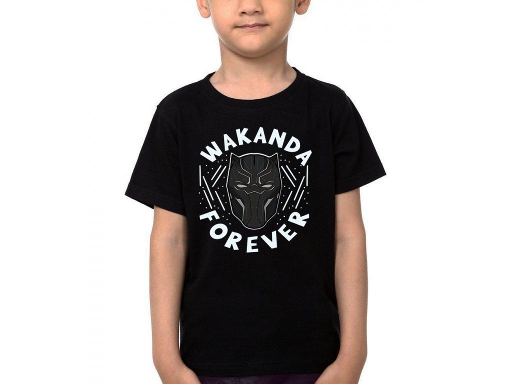 Dětské tričko Black panther Wakanda Navždy