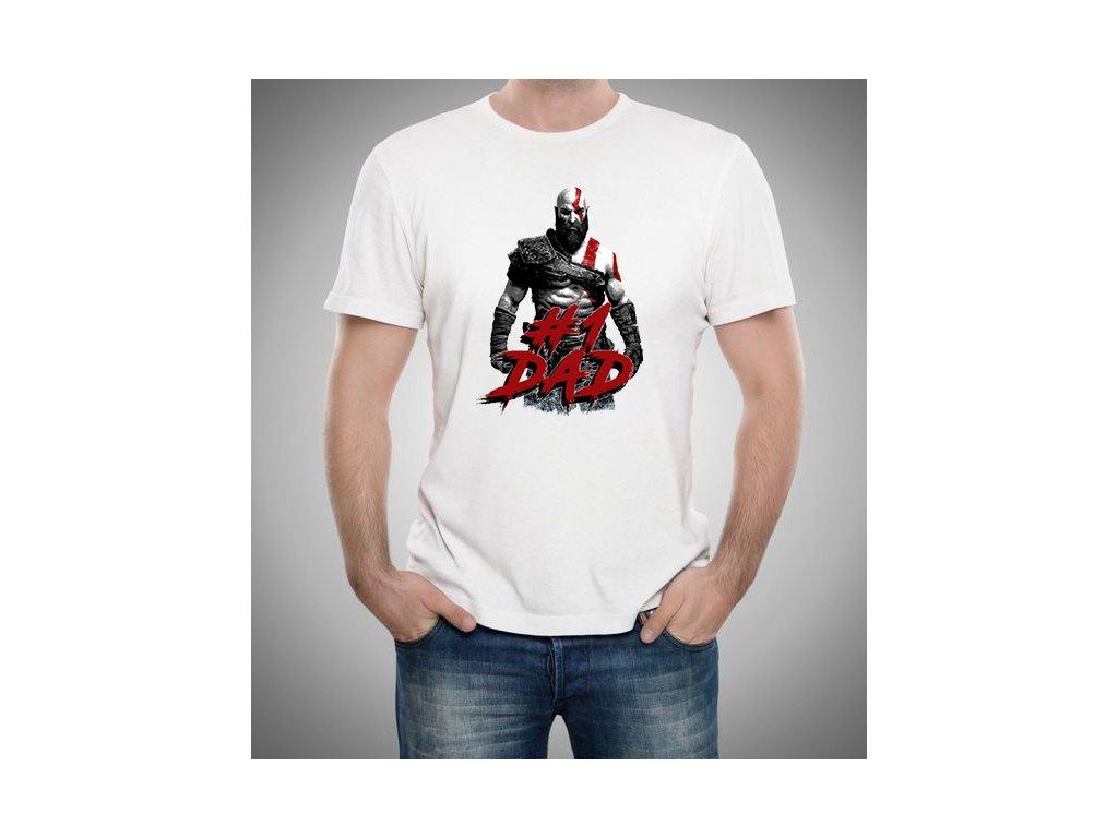 pánské bílé tričko god of war