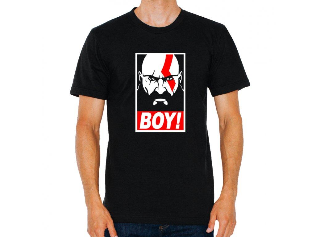 pánské černé tričko god of war BOY Kratos