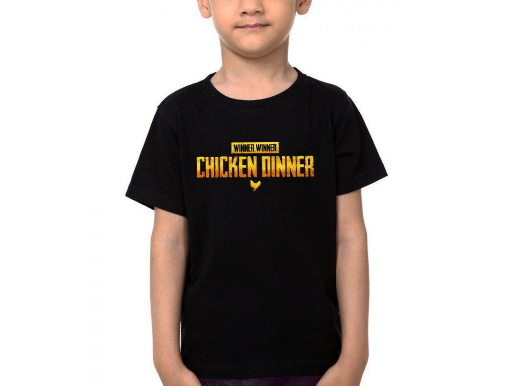 Dětské tričko Chicken Dinner PubG