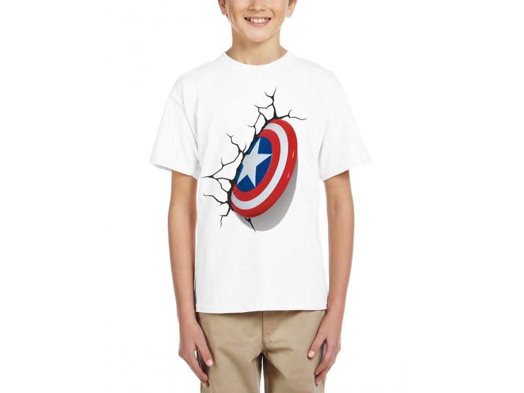 Dětské tričko kapitán amerika štít