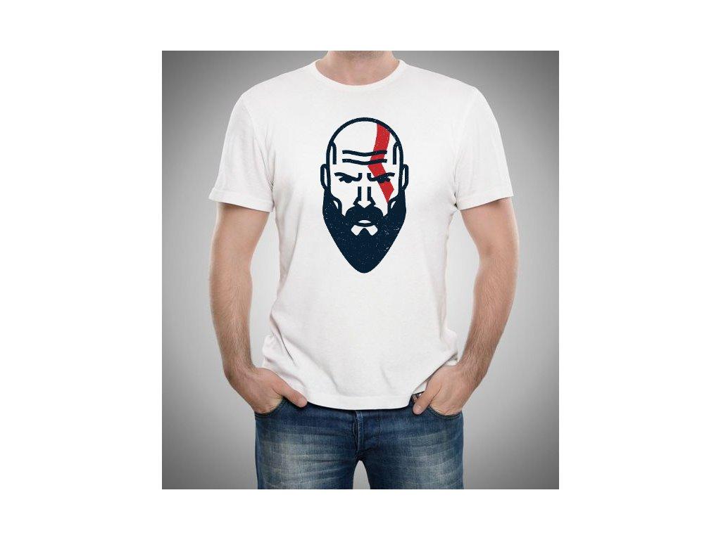 pánské bílé tričko god of war krakos GOW