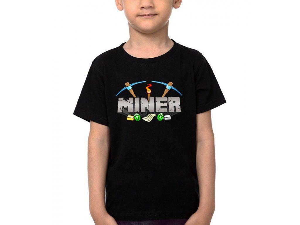 Dětské tričko Minecraft Miner