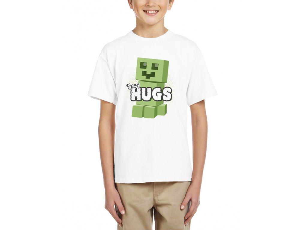 Dětské tričko minecraft Objetí zdarma
