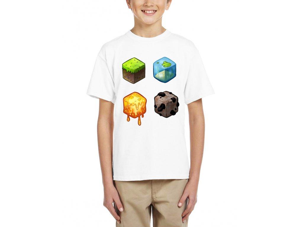 Dětské tričko Minecraft kostky