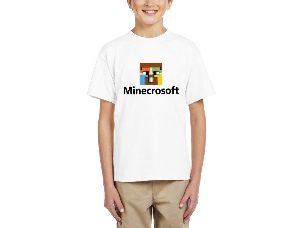 Dětské tričko Minecraft parodie Microsoft