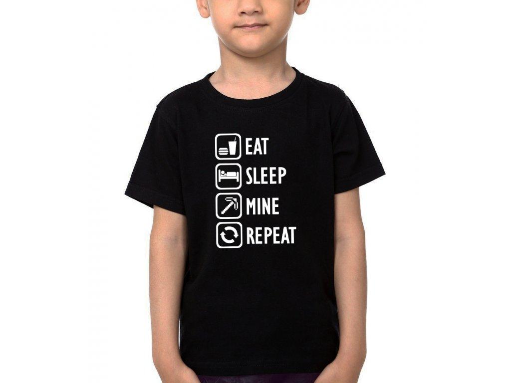 Dětské tričko Minecraft rutina