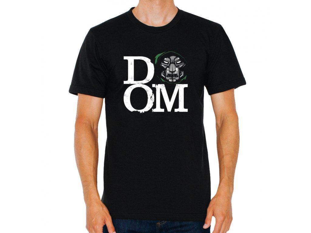 pánské černé tričko Dr Doom