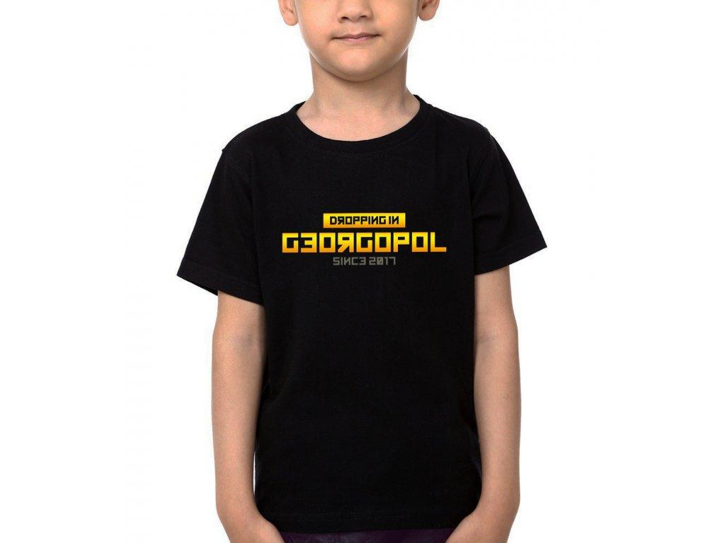 Dětské tričko PUBG Vyskočím v georgopol
