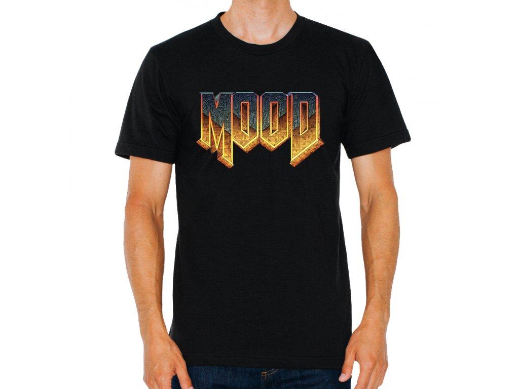 pánské černé tričko Mood parodie Doom