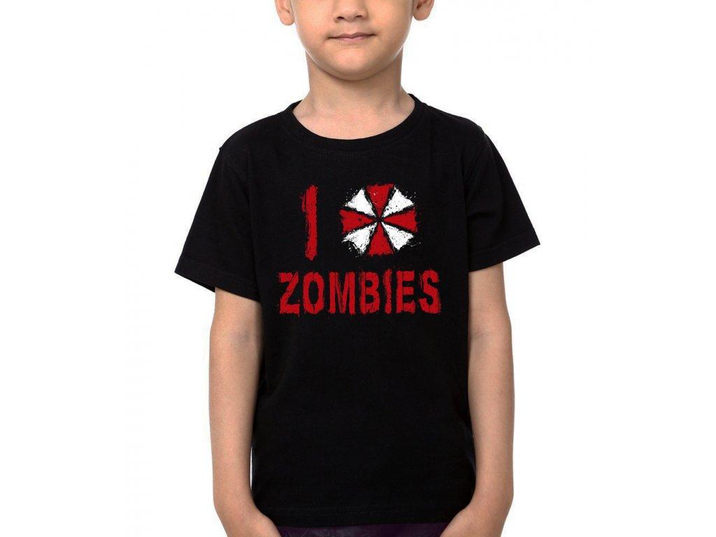 Dětské tričko Resident Evil Miluji Zombies