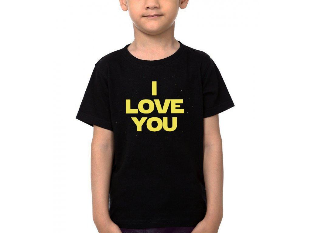 Dětské tričko Star Wars Miluji tě