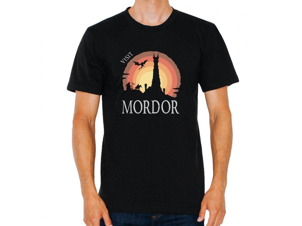 pánské černé tričko Pán prstenů navštivte mordor
