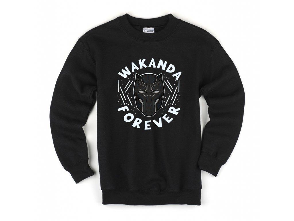 Dětská mikina Black panther Wakanda Navždy