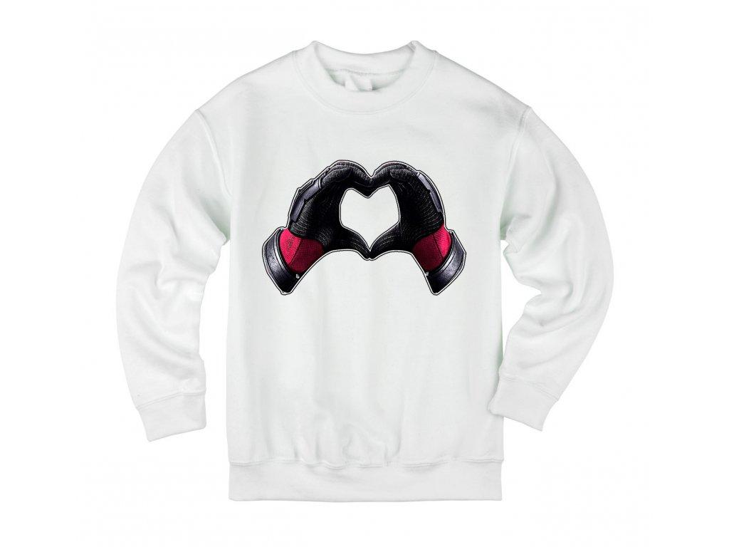 Dětská mikina Deadpool srdce