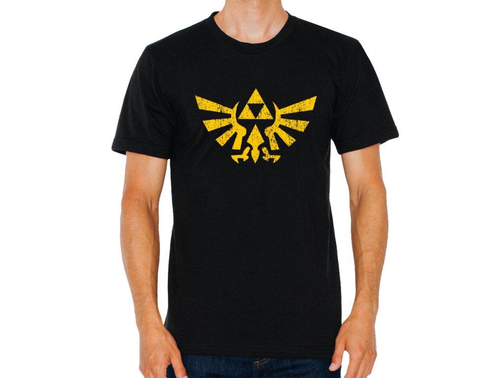 pánské černé tričko zelda legend of zelda