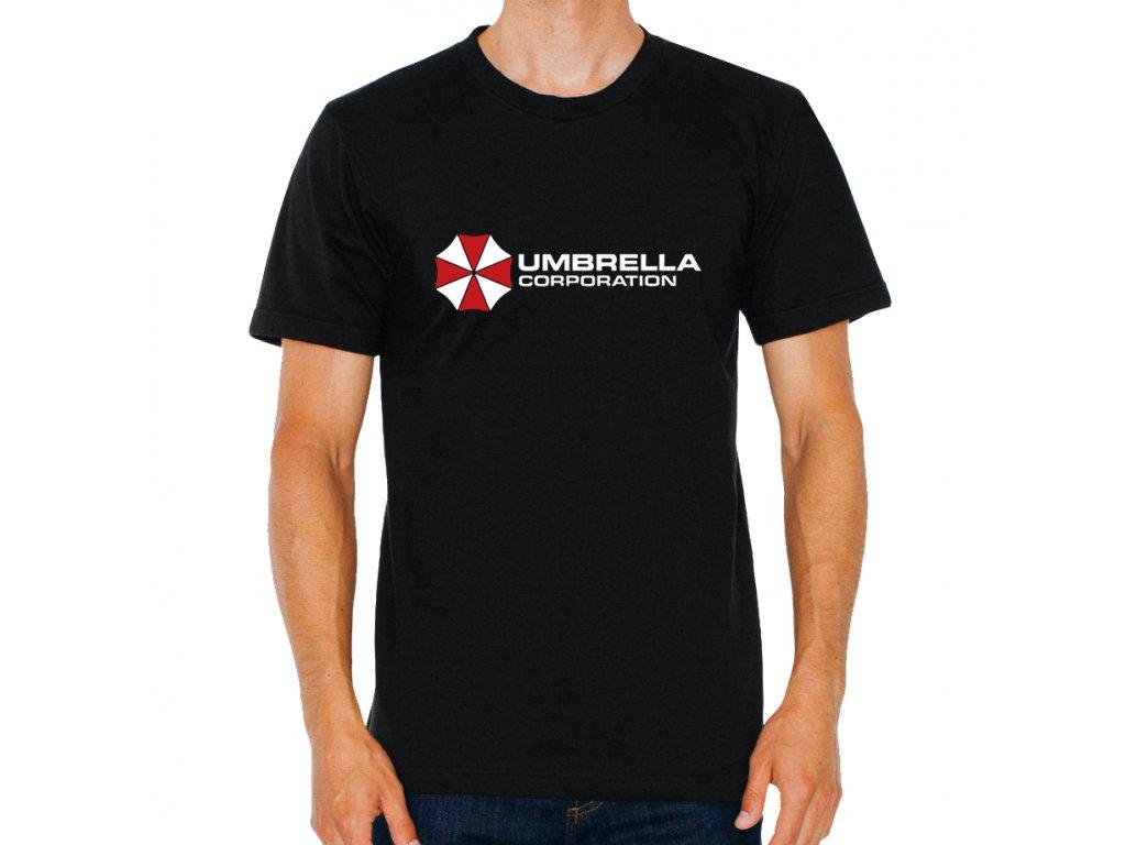 pánské černé tričko Resident Evil Korporace deštníků