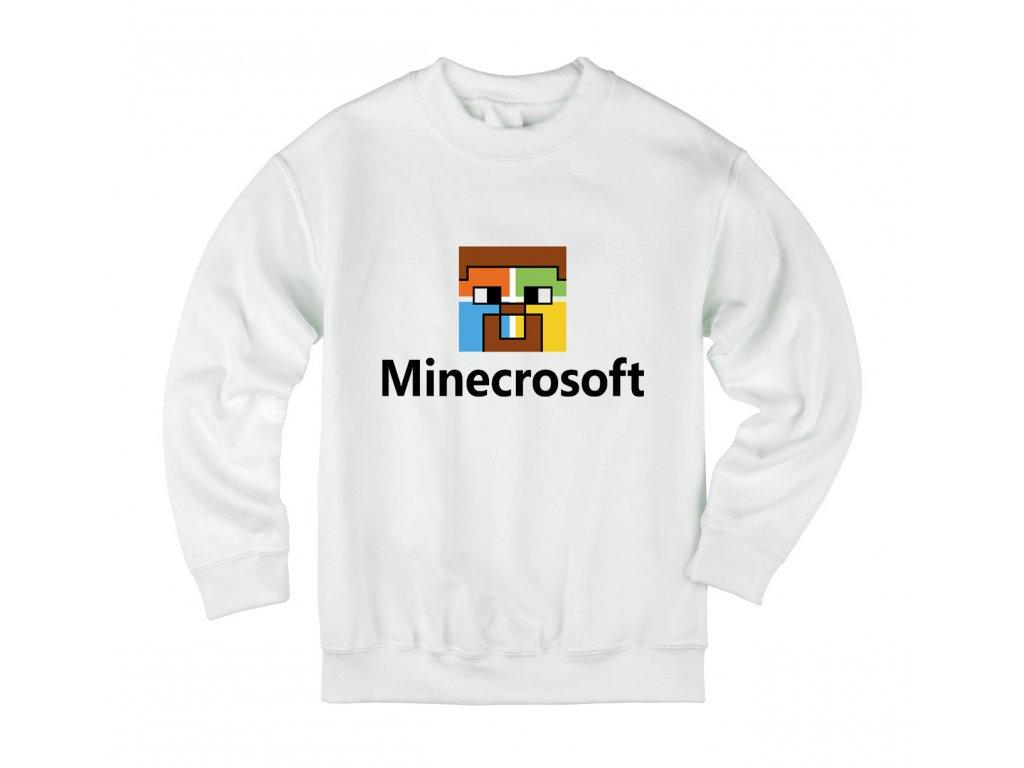 Dětská mikina Minecraft parodie Microsoft