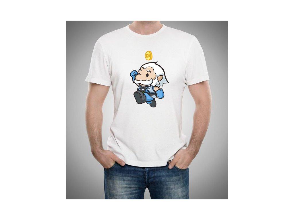 pánské bílé tričko Dota 2 Zeus