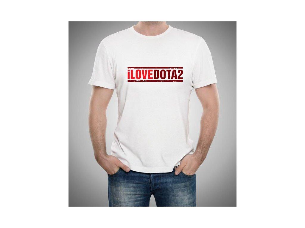 pánské bílé tričko Dota 2 Miluji Dota 2