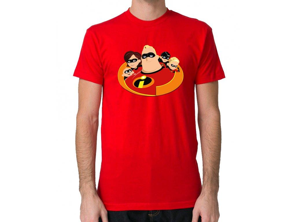 pánské červené tričko Úžasňákovi