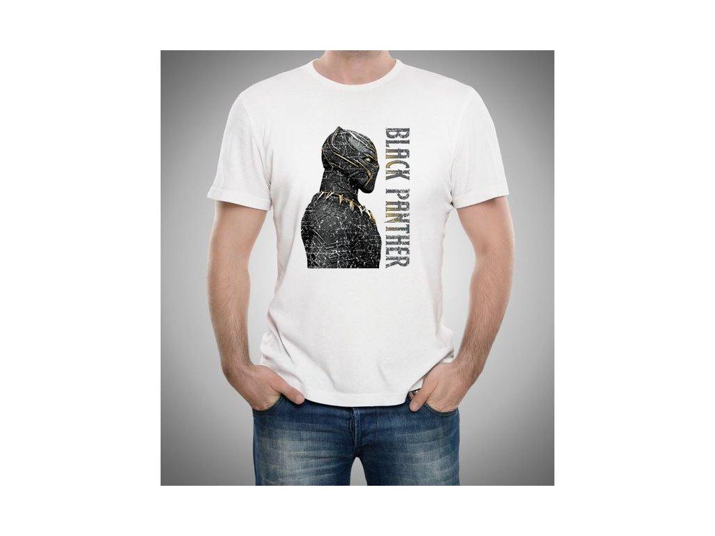 pánské bílé tričko Black Panther Král Wakandy
