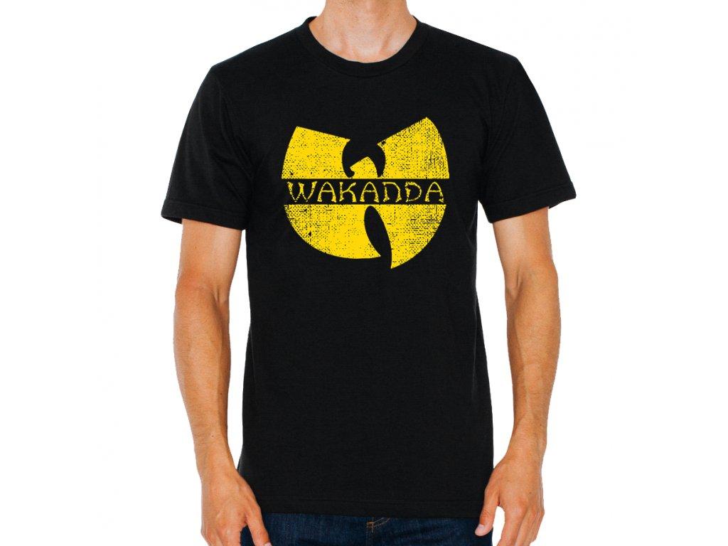 pánské černé tričko Black Panther Wakanda
