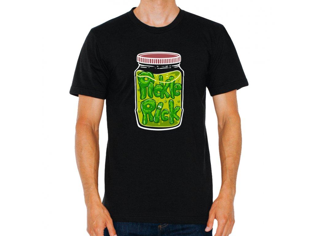 pánské černé tričko I'm Pickle Rick!