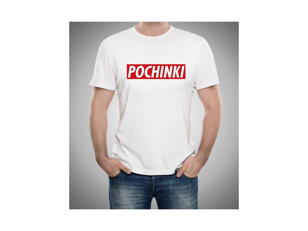 pánské bílé tričko PUBG Pochinki