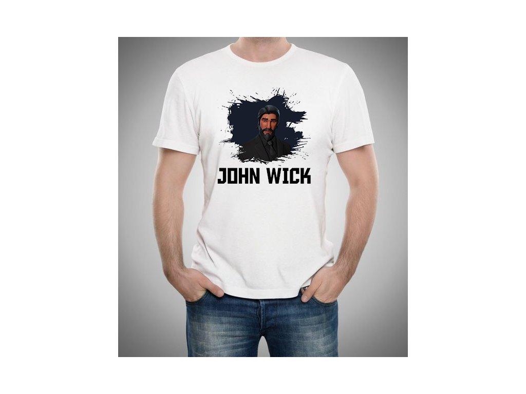 pánské bílé tričko john wick fortnite