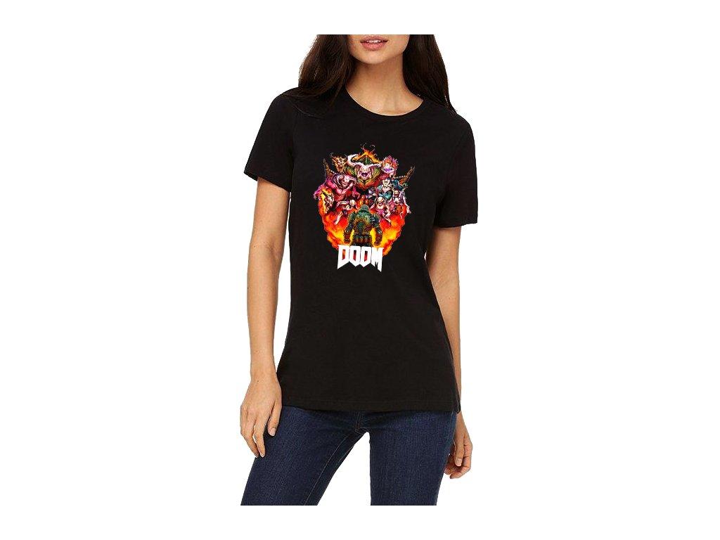 Dámské tričko DOOM Fight