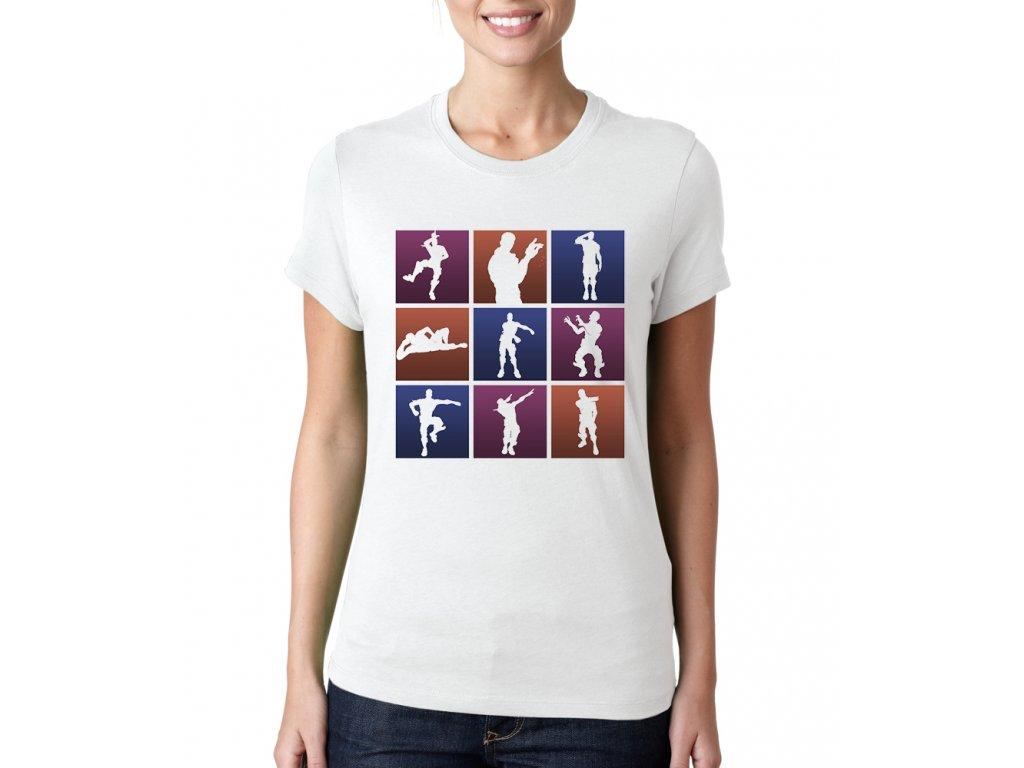 Dámské tričko fortnite motivy