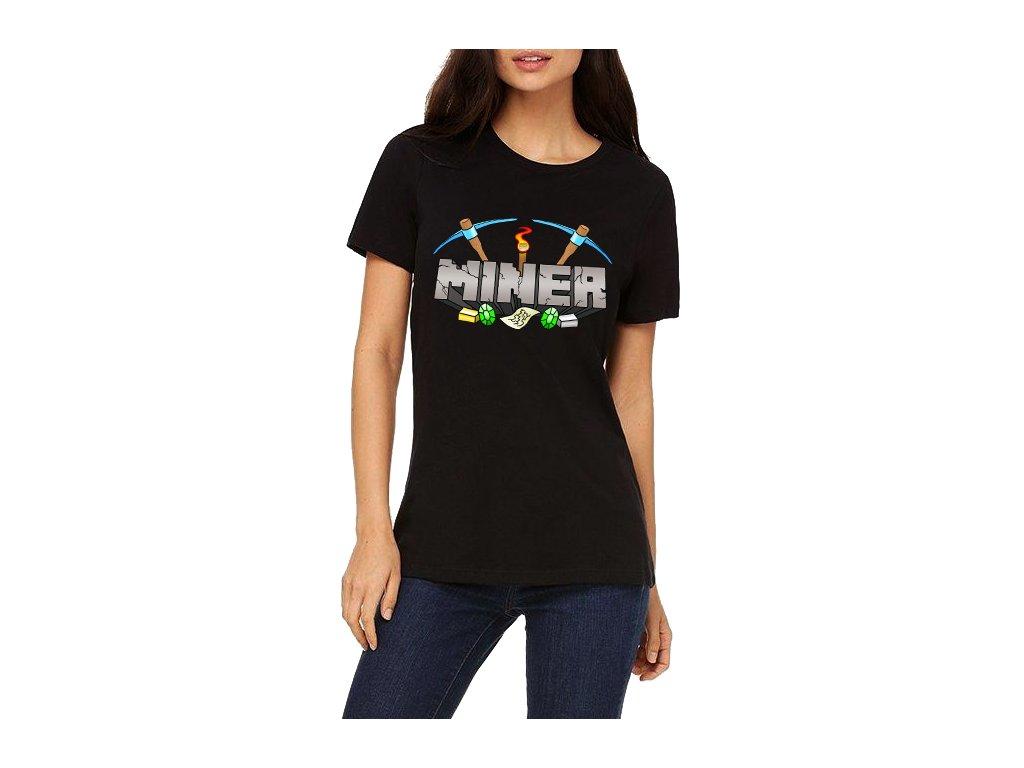 Dámské tričko Minecraft Miner