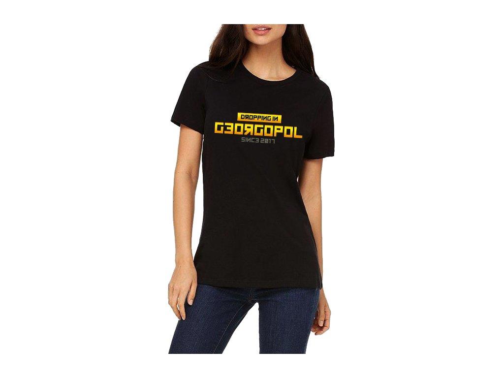 Dámské tričko PUBG Vyskočím v georgopol