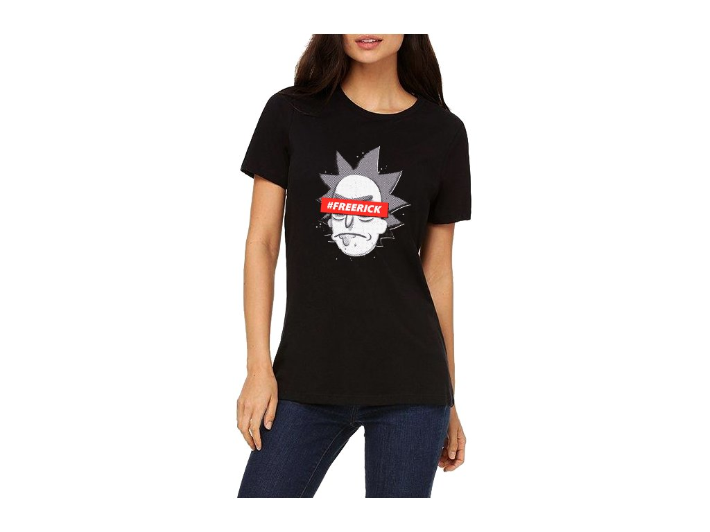 Dámské tričko Rick And Morty Free Rick
