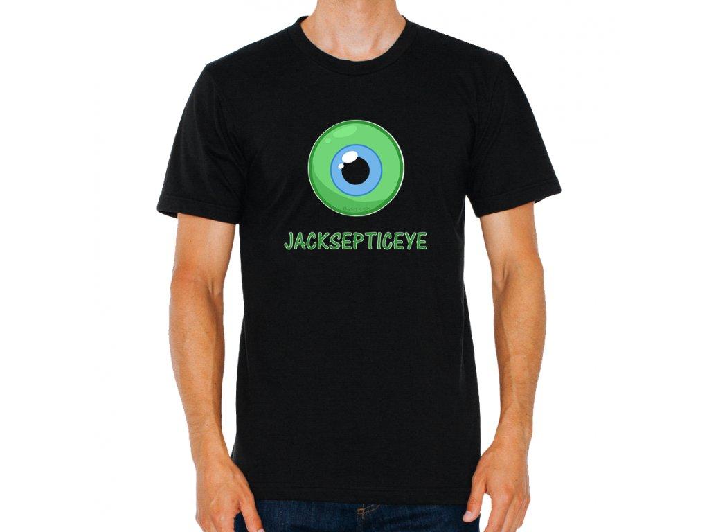 pánské černé tričko youtuber jacksepticeye