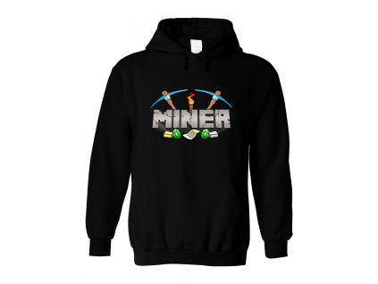Mikina s kapucí Minecraft Miner