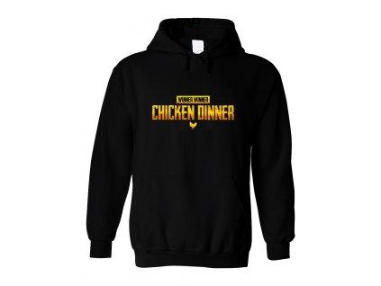 Mikina s kapucí Chicken Dinner PubG