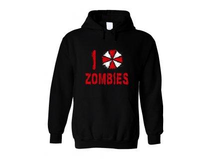 Mikina s kapucí Resident Evil Miluji Zombies