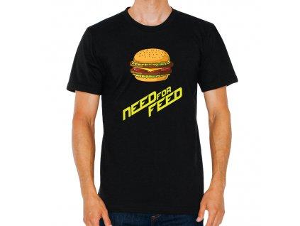 pánské černé tričko Need for speed
