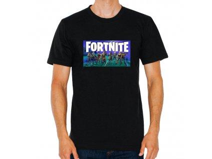 pánské černé tričko Fortnite fan art