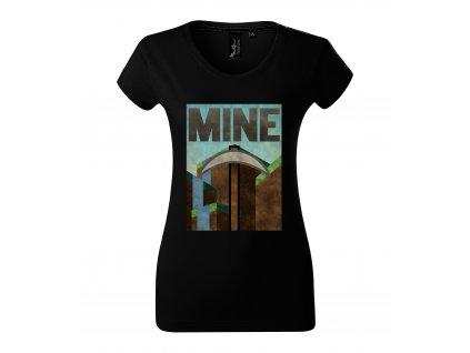 Dámské tričko Minecraft Těžit