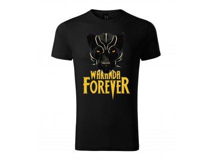 Pánské tričko Black Panther Wakanda Navždy