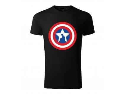 Pánské tričko Kapitán amerika štít