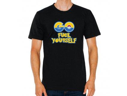 pánské černé tričko Pokemon Go fuck yoursefl