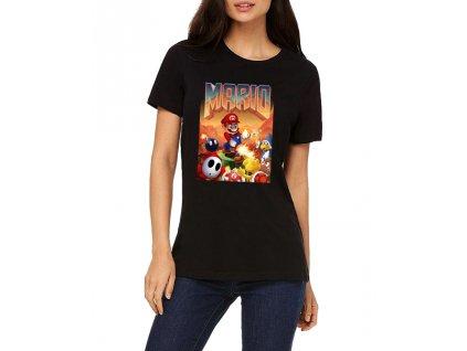 dámské tričko Mario doom parodie
